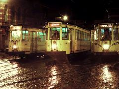 Tram 41, 80 and 90 in the rain (march 1983) by <b>bertgort</b> ( a Panoramio image )