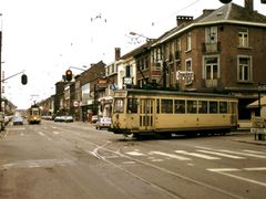 Tram 80 on the curve (march 1983) by <b>bertgort</b> ( a Panoramio image )