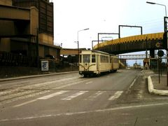 Tram 80 with trailer (march 1983) by <b>bertgort</b> ( a Panoramio image )