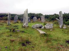 Beara : Derrintaggart Stone Circle by <b>Peter Connolly</b> ( a Panoramio image )