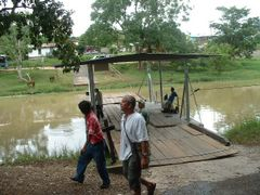 Ferry to cross Mopan River to visit Maya site in Xunantunich, Be by <b>Lucien Kivit</b> ( a Panoramio image )
