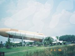 A view in the Rocket Garden at Kennedy space Center, Florida, US by <b>unnippillai</b> ( a Panoramio image )