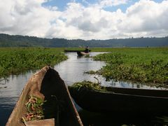 A Walk Beside Lake Buyan: Getting into the Canoe by <b>Ian Stehbens</b> ( a Panoramio image )