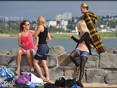 Summer in the city of Ingolfur Arnarson - Candid Reykjavik 2010- by <b>Sig Holm</b> ( a Panoramio image )