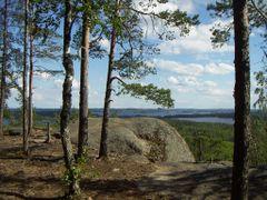 Finland, Luonteri lake, Hiidenlahti, Neitvuori - towards South-E by <b>lmfzor</b> ( a Panoramio image )