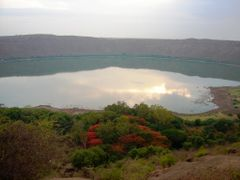 LONAR LAKE.  it is has the only lake in India that is created ou by <b>Prithviraj</b> ( a Panoramio image )
