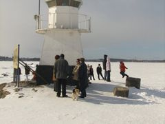 Siilinkari Lighthouse during winter by <b>Petri Sirkkala</b> ( a Panoramio image )
