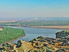 View of Arkansas River from Overlook, Petit Jean State Park by <b>Geezer Vz</b> ( a Panoramio image )