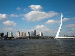 Erasmus Bridge and SkyLine by <b>© BraCom (Bram)</b> ( a Panoramio image )