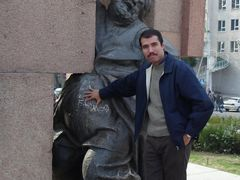 Me in Ayni Square, Dushanbe, Tajikistan by <b>Hamed Ansari</b> ( a Panoramio image )