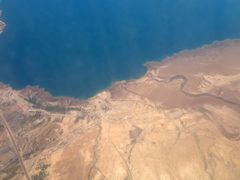 Taken from the plane, Jordan River and the Dead Sea by <b>khaled Al-Bajjali</b> ( a Panoramio image )