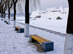 Harbin Sun Island Park - TaiYang Lake in winter by <b>GuoJunjun</b> ( a Panoramio image )