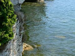 Cave Point Wisconsin Shoreline on Lake Michigan by Joe Recer by <b>Joe Recer</b> ( a Panoramio image )