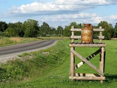 Piimapukk (Sovjet time milk collection point) by <b>Uku Praks</b> ( a Panoramio image )