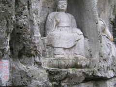 Rock carvings at Lingyin Temple (???) by <b>Ville Makkonen</b> ( a Panoramio image )