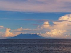 Nearing sunset. Camiguin Island as seen from Jagna. by <b>francinelb3</b> ( a Panoramio image )