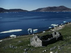 Viking Church in Hvalsey by <b>Philippe Stoop</b> ( a Panoramio image )