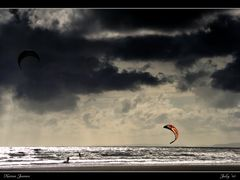 #37 ~ Kite Surfing on a Windy Day ~ (UK) 2010 November NPC  by <b>Karen James</b> ( a Panoramio image )