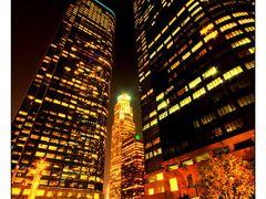 LA Night Skyline by <b>James R Wilson</b> ( a Panoramio image )