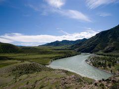 Слияние Чуи и Катуни / The confluence of Chuya and Katun by <b>AndreyVKomarov</b> ( a Panoramio image )
