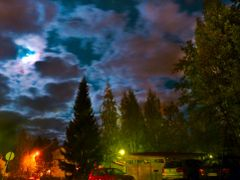Full Moon behind the Clouds, 22.9.2010, 23:25 by <b>jknaus</b> ( a Panoramio image )