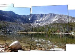 Baxter Peak and the Great Basin seen from Chimney Pond by <b>Dr. Phrost</b> ( a Panoramio image )