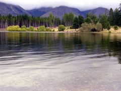 a calm lake in the mountains by <b>little river dan</b> ( a Panoramio image )