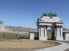 Entrance to Genghis Khan Statue complex by <b>worldtimezone</b> ( a Panoramio image )