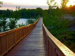 Boardwalk along Ross Lake in Flin Flon, MB by <b>R. Halim</b> ( a Panoramio image )