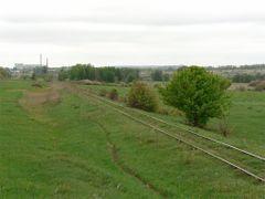 Подъездной путь на станцию Вослебово (вид в сторону Скопина) by <b>Sergey Kalinov</b> ( a Panoramio image )