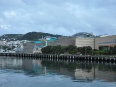 Twilight - Te Papa Tongarewa Museum by <b>Eva Kaprinay</b> ( a Panoramio image )