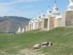 Stupas of Erdene Zuu Monastery by <b>Chouden Boy</b> ( a Panoramio image )
