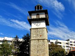 "Dobrich, Clock tower in Еthnographicаl complex  ""The old Dobrich by <b>aticank</b> ( a Panoramio image )"