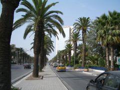 Avenue Mohamed V & Palais des congres de Tunis by <b>LittleGray</b> ( a Panoramio image )