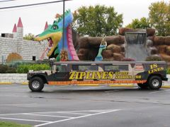"""a """"Sporty"""" Hummer used for advertising...Pigeon Forge, Tennessee by <b>Sarah O</b> ( a Panoramio image )"""