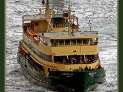 Manly ferry; Manly ferry services connect the suburb of Manly,   by <b>PHOTO.K.C</b> ( a Panoramio image )