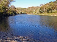 Buffalo River - Rush Access Downstream by <b>Geezer Vz</b> ( a Panoramio image )
