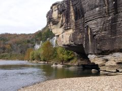 Buffalo River - Buffalo Point Cliff by <b>Geezer Vz</b> ( a Panoramio image )