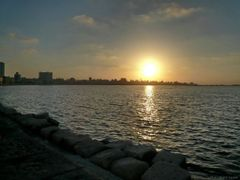 sunset from the coastal road by <b>cycle way</b> ( a Panoramio image )