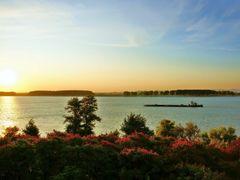 Chromatics sunrise on the Danube in Galati - Cromatica rasaritul by <b>Ioan Cepaliga</b> ( a Panoramio image )