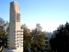 """View of Downtown from Frank Lloyd Wright""""s Hollyhock House (Los  by <b>laurac5</b> ( a Panoramio image )"""