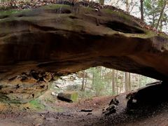 Yahoo Arch Panorama 2 (Big South Fork, KY) Autumn 2010 by <b>Kalin Ranchev</b> ( a Panoramio image )