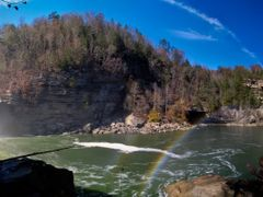 Double Rainbow at Cumberland Falls Panorama 2 (Corbin, KY) Autum by <b>Kalin Ranchev</b> ( a Panoramio image )