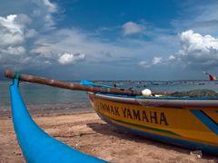 Jukung - outrigger canoes of Bali, Jimbaran ¦ by pilago by <b>pilago</b> ( a Panoramio image )