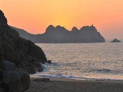"Logan""s Rock ~ Porthcurno ~ Sunrise by <b>Nick Weall</b> ( a Panoramio image )"