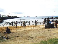 Piscina de mar junto ao forte S. Sebastiao - S. Tome - Sao Tome  by <b>Mario:Portugal</b> ( a Panoramio image )