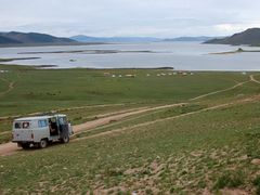 Terkiin Tsagaan: El lago blanco by <b>Javier Elcuaz</b> ( a Panoramio image )