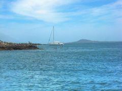 Velero y pelicanos con Punta de Mita en distancia. (Sailboat and by <b>geogeek</b> ( a Panoramio image )