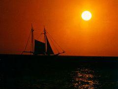 Honeymoon Sunset, Island of Aruba, Caribbean Sea, 1994 by <b>Alex Methenitis</b> ( a Panoramio image )