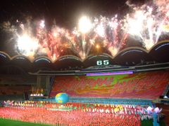 Fireworks at Mass Games by <b>Chouden Boy</b> ( a Panoramio image )